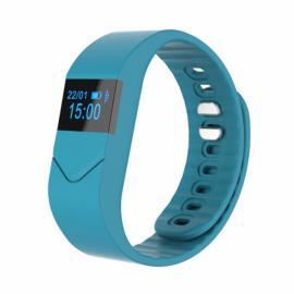 Pro M5 Blood Pressure/Oxygen Heart Rate Monitor Fitness Tracker Bluetooth Smart Wrist Band Bracelet Light Blue