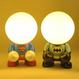 0.3W Creative Cartoon Superman LED Night Light USB Rechargeable Home Decor Bedroom Lamp