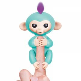 Fingerlings Interactive Baby Monkey Smart Colorful Induction Toys For Kids Gift - Cyan