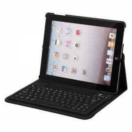 360 Degree Rotatable Silicone Bluetooth Keyboard for iPad 2 Black