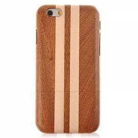 Geometric Texture Detachable Wood Back Case for iPhone 6 Plus/6S Plus Brown