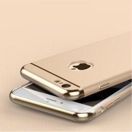 Joyroom Ultrathin Aluminum Alloy Bumper + Plastic Back Cover for iPhone 6 Plus / 6S Plus Golden
