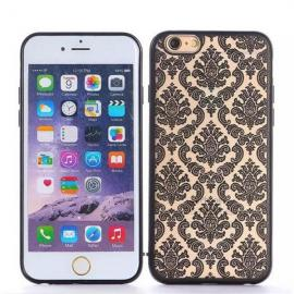 Retro Engraved Pattern Matte TPU & PC Back Case Cover for iPhone 6 Plus / 6S Plus Black
