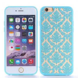Retro Engraved Pattern Matte TPU & PC Back Case Cover for iPhone 6 Plus / 6S Plus Green