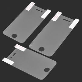 3pcs Glossy PET Screen Protector with Cleaning Cloth for iPhone 4/4S Transparent