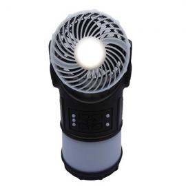 4 In 1 Multifunctional IPX5 Camping Light LED USB Lamp Fan FM Radio Mosquito Dispeller Lantern Black