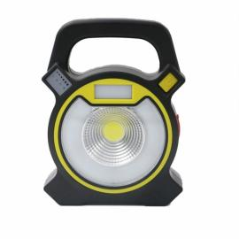 Portable 5W COB LED 4 Modes USB Rechargeable Work Light Lawn Lamp Outdoor Camping Light Yellow & Black