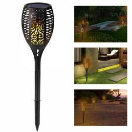 96 LED Solar Path Torches Dancing Flame Lighting Flickering Garden Light