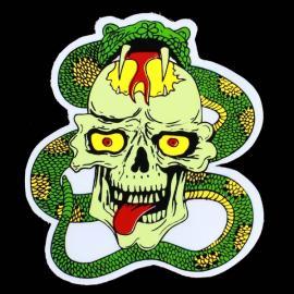 DIY Evil Skull & Boa Pattern PVC Car Decorative Sticker Colorful