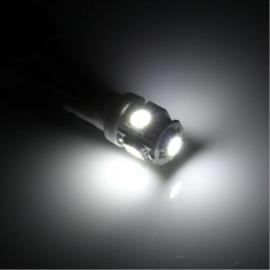 2pcs T10 1.2W 5-LED 5050SMD 80lm White Light Car Turn Signal Lights Reading Lamps Decorative Lights