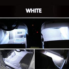 4 in 1 9LED 12V Car Styling Interior Dash Floor Foot Decoration Light Lamp White