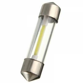 COB Filament LED Festoon Dome License Glass Light Car Reading Light 39mm White Light