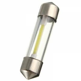 COB Filament LED Festoon Dome License Glass Light Car Reading Light 36mm White Light