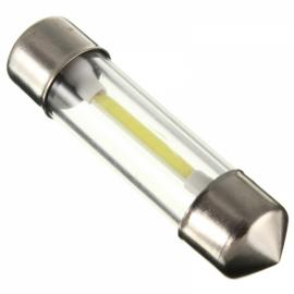 COB Filament LED Festoon Dome License Glass Light Car Reading Light 36mm Warm White Light