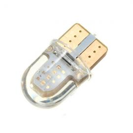 T10 W5W 8-COB SMD Silica Car LED Door License Light Bulb Blue Light