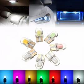 T10 W5W 8-COB SMD Silica Car LED Door License Light Bulb White Light