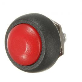 Car Auto Momentary OFF / ON Push Round Button Horn Switch Red