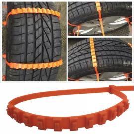 10pcs Universal Anti-skid Tire Wheel Snow Chains for Cars SUV Truck Orange
