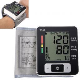 Digital LCD Wrist Sphygmomanometer Blood Pressure Monitor Meter White & Black