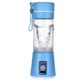400mL Multifunctional Portable Rechargeable USB Charging Electric Mini Juicer Blue