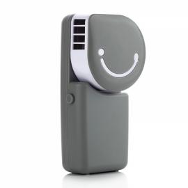 Portable Mini Air Condition USB Rechargeable Water Cooling Fan for Home Office Outdoor Handheld Micro Cooler Fan Gray