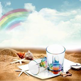 Romantic Acrylic Light Refraction Rainbow Cup Colorful & Transparent