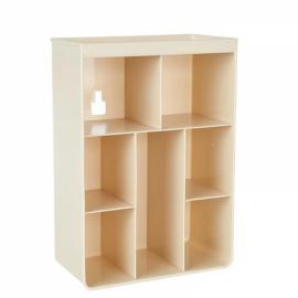 Multi-purpose Wall Mount Bathroom Storage Boxes Shampoo Cosmetic Storage Rack Kitchen Seasoning Storage Holder Beige