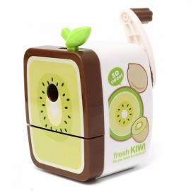 Cute Kiwi Pattern Rotary Hand Crank Manual Pencil Sharpener School Stationery Gray