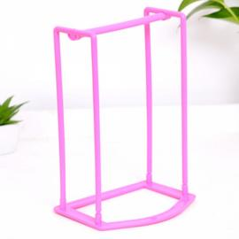 Creative Clothes Hanger Storage Rack Multifunctional Clothespin Organizer Holder Pink