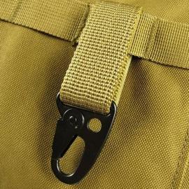 Carabiner Hook Webbing Buckle Nylon Molle Belt Hanging Key Ring Outdoor Tool Khaki