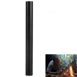 8 x 80 mm Magnesium Rod Fire Starter for Outdoor Survival Black