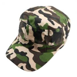 Unisex Camouflage Military Disguise Flat-top Cap Sport Baseball Hunting Hiking Cap Bright Army Green
