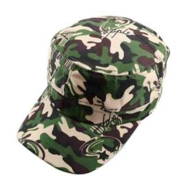 Unisex Camouflage Military Disguise Flat-top Cap Sport Baseball Hunting Hiking Cap Army Green Camouflage