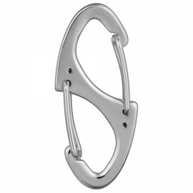 Outdoor Zinc Alloy Dual-Spring Carabiner Keychain Silver