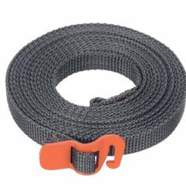 Outdoor Polypropylene Tie Down Strap Tying Webbing Rope with Hook Orange