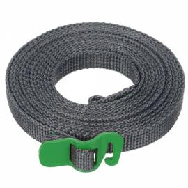 Outdoor Polypropylene Tie Down Strap Tying Webbing Rope with Hook Green