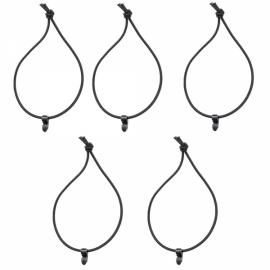 5pcs FURA Nylon Elastic Rope Tying Band Belt Black