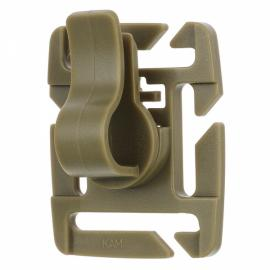 5pcs Outdoor Universal 360-Degree 8-Level Adjustable Rotating POM Water Pipe Hose Clamp for Molle Backpack Khaki