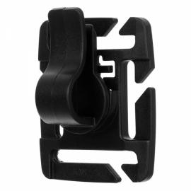 5pcs Outdoor Universal 360-Degree 8-Level Adjustable Rotating POM Water Pipe Hose Clamp for Molle Backpack Black