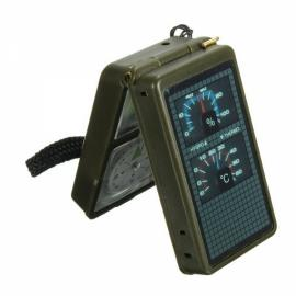 10-in-1 Multifunction Outdoor Survival Compass Tool Kit for Camping Hiking Army Green