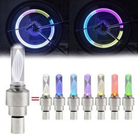 AG10 Button Battery Powered Colorful Air Valve Cap / Gas Nozzle Lamp for Bicycle