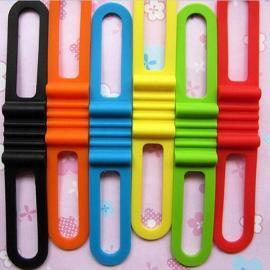 Mountain Road Bike Front Light Silicone Band Strap Color Random