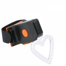 Heart Shape Cycling 5 Modes USB Rechargeable COB LED Bicycle Tail Light Bike Seat Warning Lamp Bicycle Safety Light