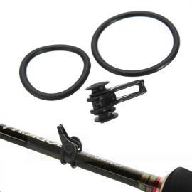 Plastic Fishing Rod Tackle Hook Holder Bait Loop for Lures Rod Hook Keeper Black