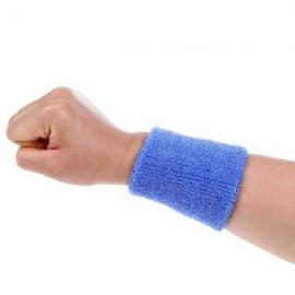 Aolikes Soft Breathable Sweat Absorbing Sports Wrist Support Band Lake Blue