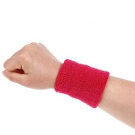 Aolikes Soft Breathable Sweat Absorbing Sports Wrist Support Band Red