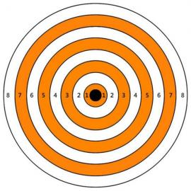A4 Self-Adhesive Paper Target for Air Rifle Pistol Gun Shooting Archery Practice 28.5x21cm #11