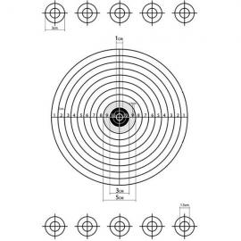 A3 Self-Adhesive Paper Target for Air Rifle Pistol Gun Shooting Archery Practice 28.5x42cm #12