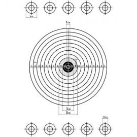 A4 Self-Adhesive Paper Target for Air Rifle Pistol Gun Shooting Archery Practice 28.5x21cm #12