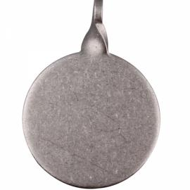 3cm Round High Strength Stainless Steel Target for Pistol Shooting Silver Gray